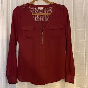 Maroon Candie's Blouse